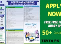 TEVTA New Courses 2021 – Hunarmand Nojawan Program